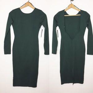 NWT Lulu's midi Dress hunter green new Medium